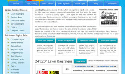 Website audit and onsite optimization for lawnbagsigns