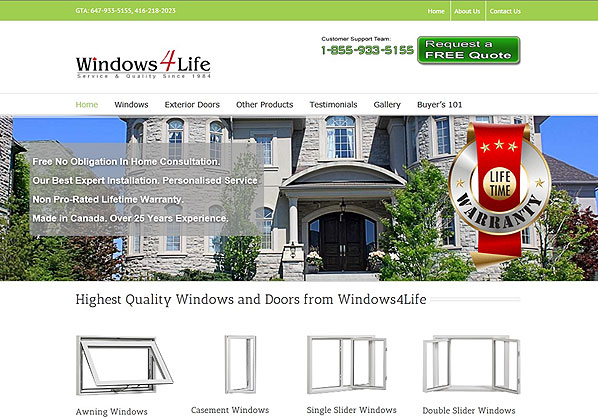 Toronto website development Windows4life