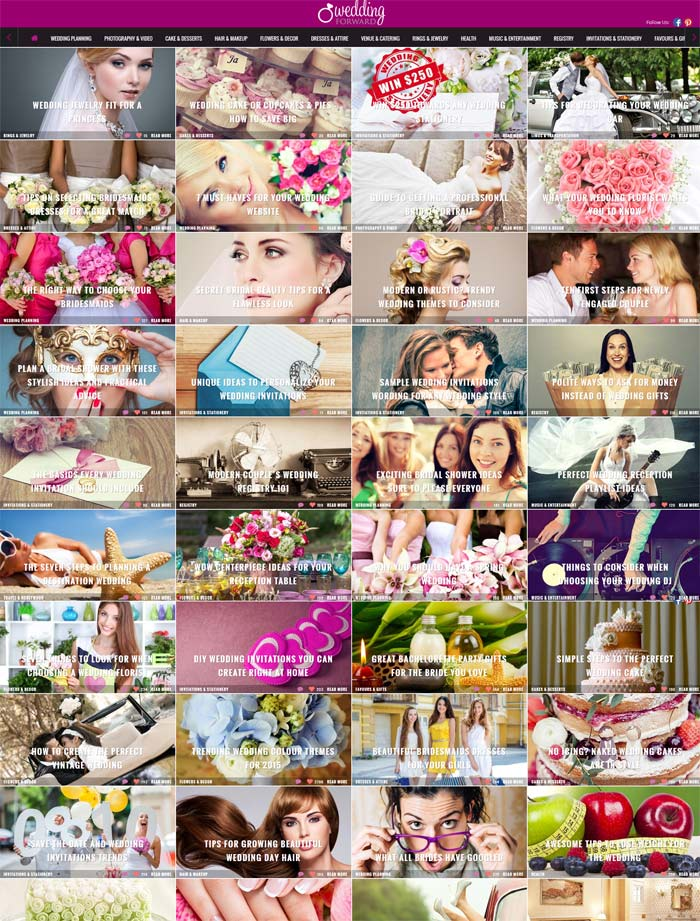 Web Design Weddingforward.com