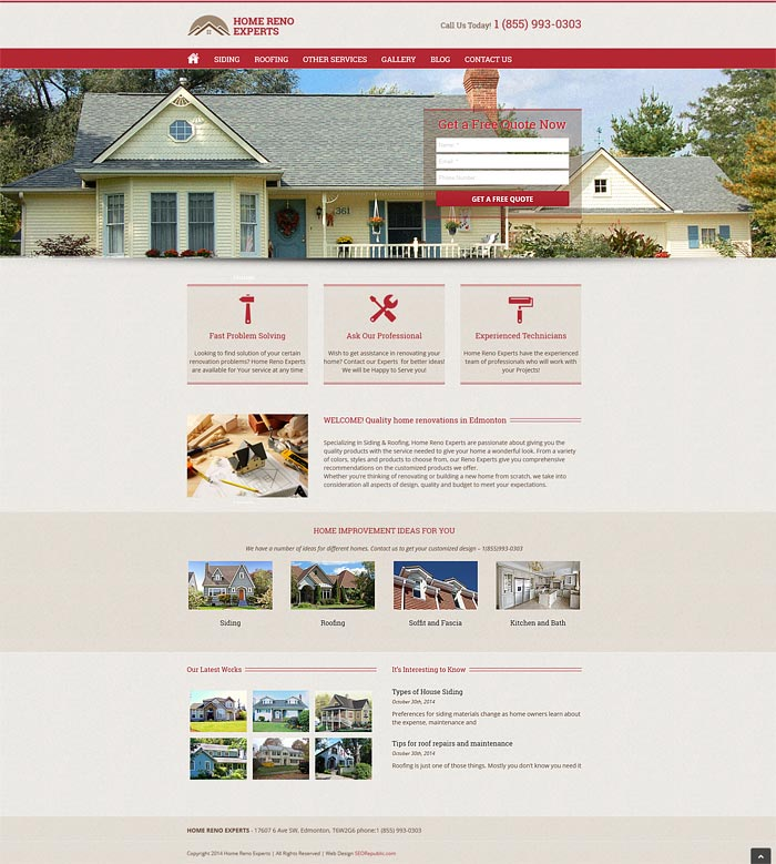 Web Design Edmonton Home Reno Experts