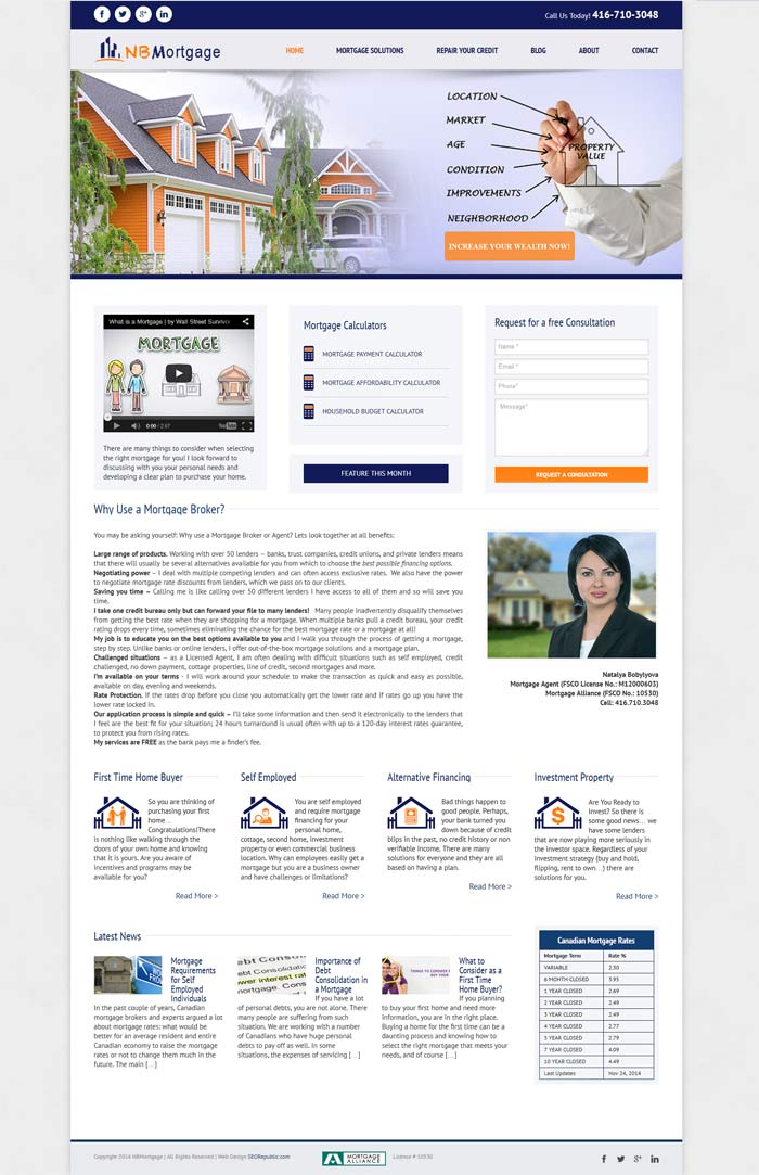 Web Design Toronto NBMortgage
