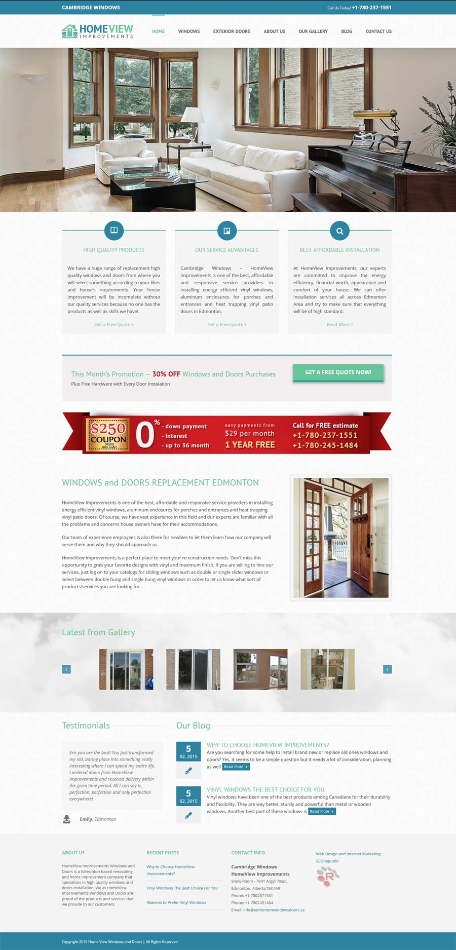 Web Design Edmonton windows doors